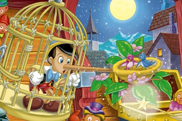 scene from Walt Disney's Pinocchio movie